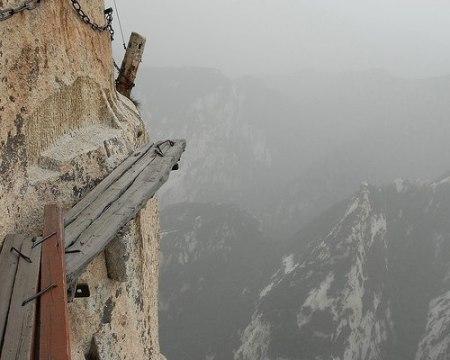På berget Huá Shān i Kina finns kanske världens läskigaste stig