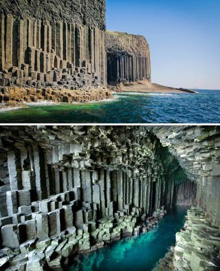 Fingal's Cave på skotska ön Staffa