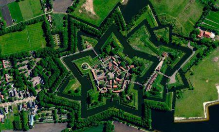 Fortet Bourtange i Nederländerna