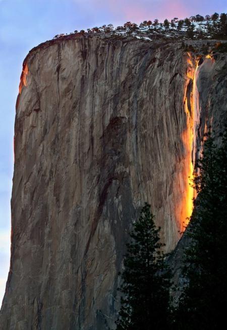 Horsetail Fall i Yosemite nationalpark