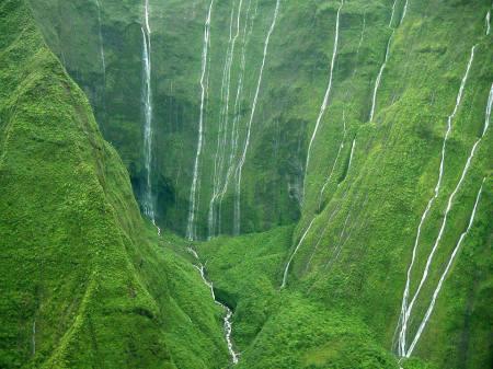 Vulkanen Mount Waiʻaleʻale på Hawaii